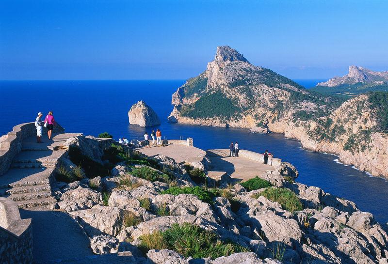 Blick vom Punta de la Nao auf das Cap de Formentor, Mallorca, Balearen, Spanien