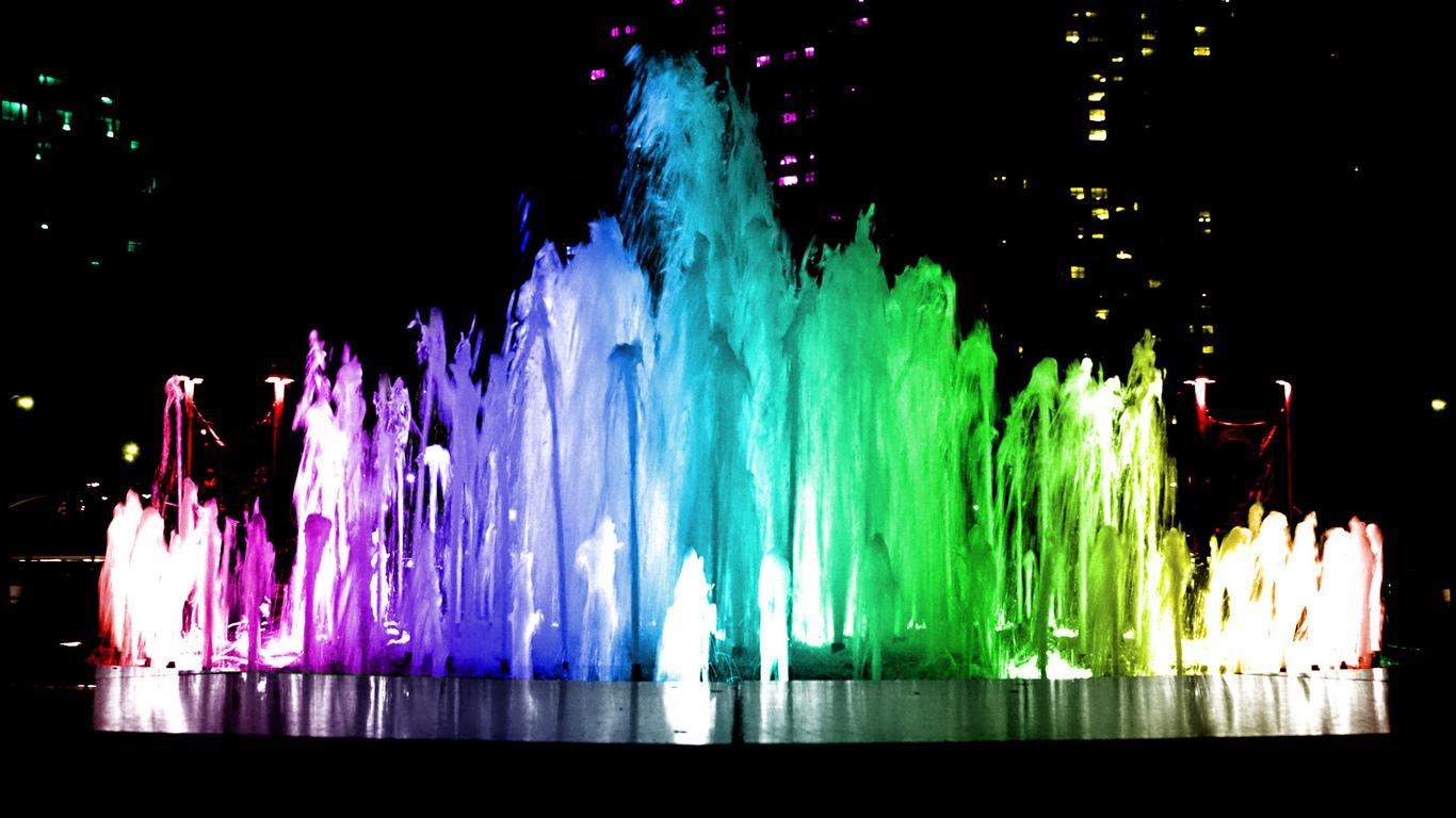 Светящийся фонтан