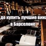 Где купить лучшее вино в Барселоне